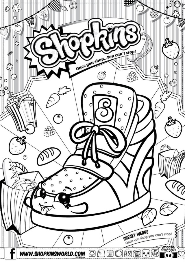 Shopkins Coloring Pages To Print Shopkins Coloring Pages Free Printable Coloring Pages