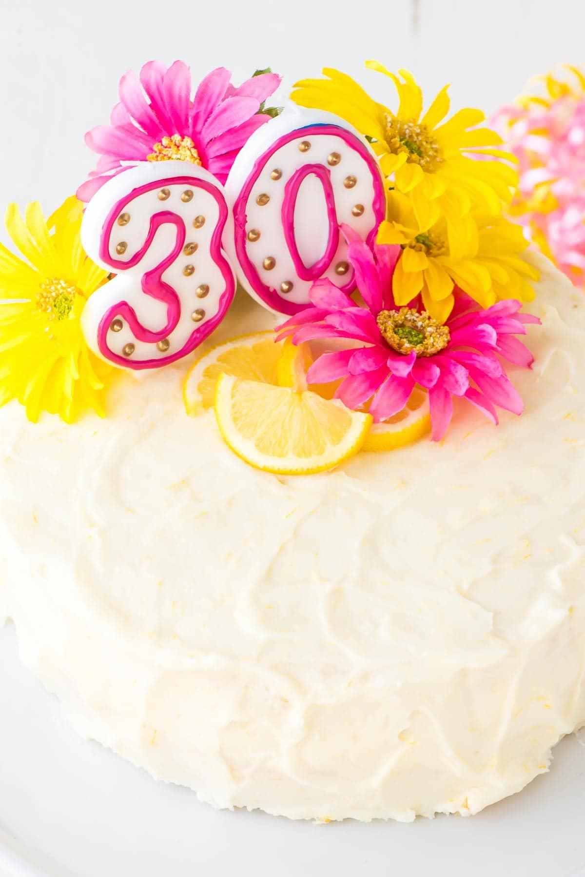 Brilliant Simple Birthday Cake Recipe Lemon Layer Cake With Lemon Cream Personalised Birthday Cards Beptaeletsinfo