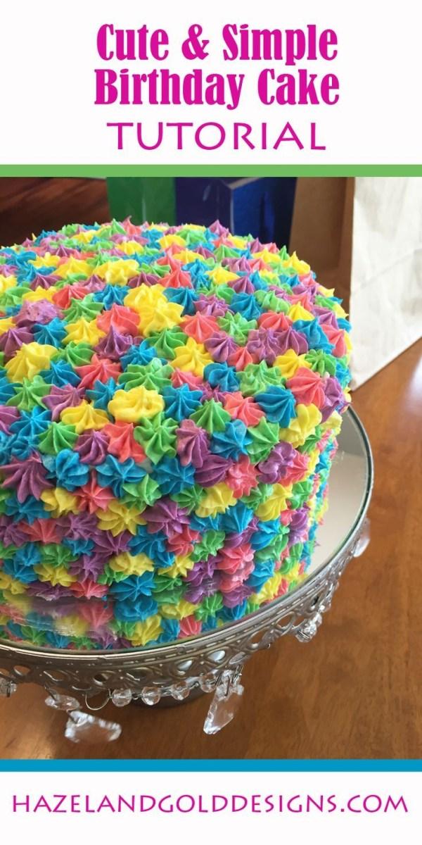 Terrific Simple Birthday Cake Recipe Rainbow Birthday Cake Food Sweets Birthday Cards Printable Giouspongecafe Filternl