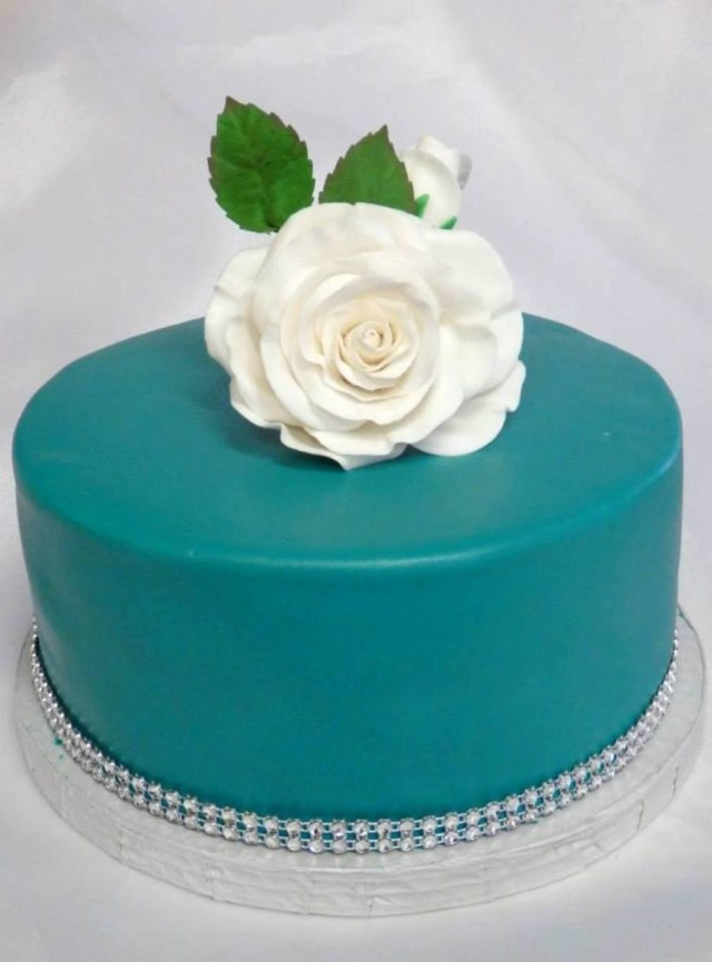 Simple Birthday Cakes Birthday Cake Turquoise Color With Some Black To Deepen It Simple