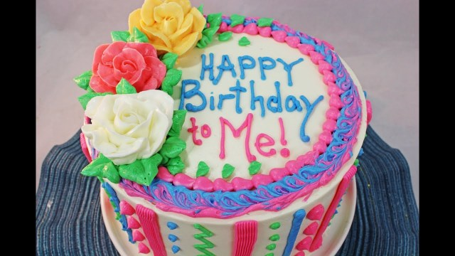 Simple Birthday Cakes How To Make A Birthday Cake Beginners Tutorial Youtube