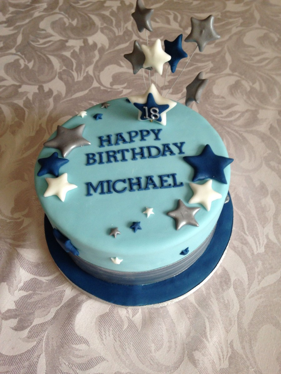 Excellent Simple Birthday Cakes Simple 18Th Birthday Cake For A Boy Prestons Personalised Birthday Cards Rectzonderlifede