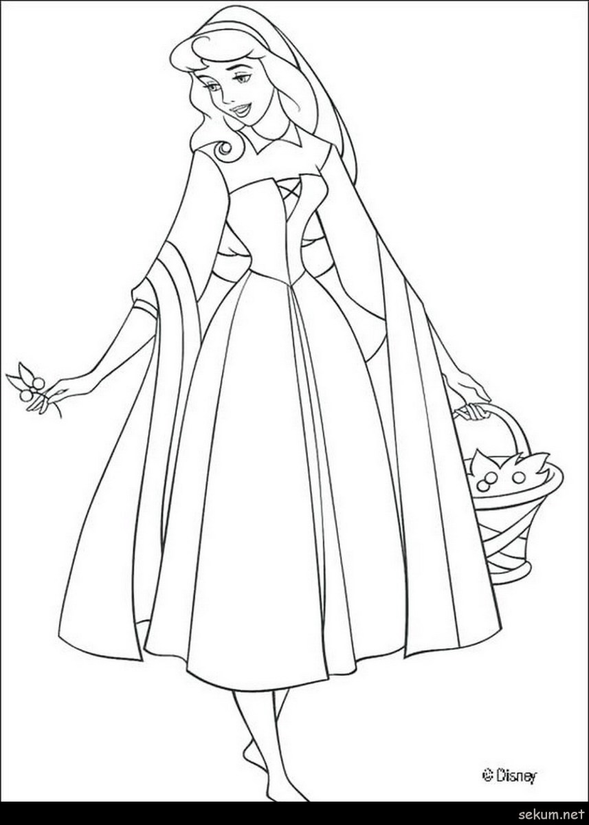 Sleeping Beauty Coloring Pages Coloring Pages Sleeping Beauty Princess Aurora With Animals Aurora