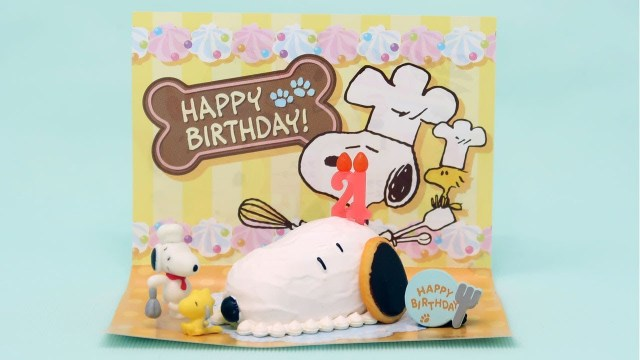 Snoopy Birthday Cake Snoopy Pastry Snoopys Birthday Cake Miniatures Re Ment Youtube