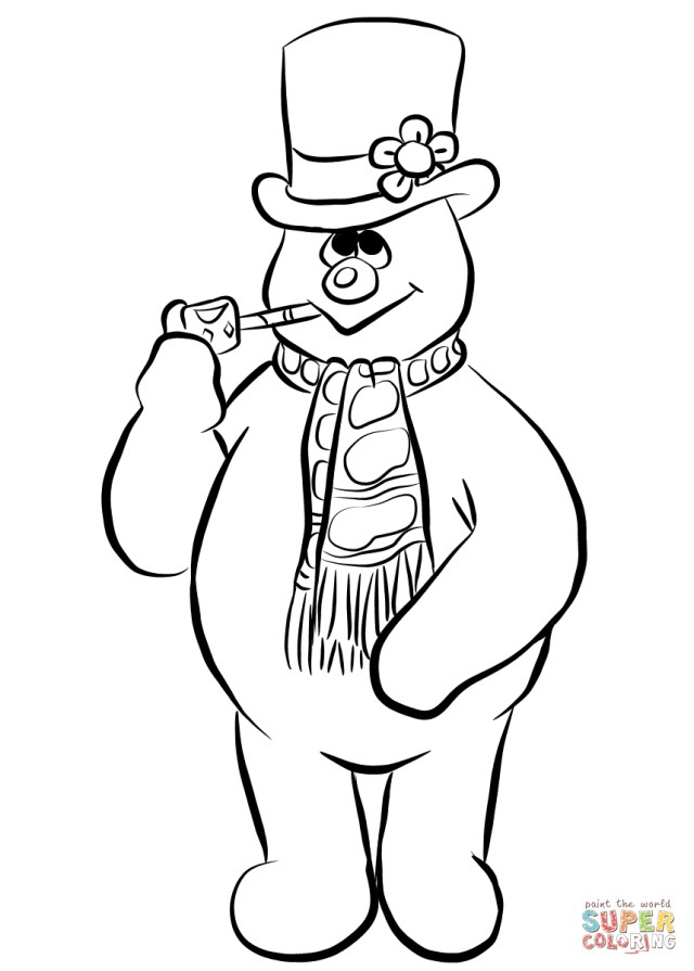Snowman Coloring Pages Frosty The Snowman Coloring Page Free Printable Coloring Pages