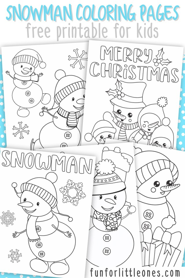 Snowman Coloring Pages Snowman Coloring Pages For Kids Free Printable Fun For Little Ones