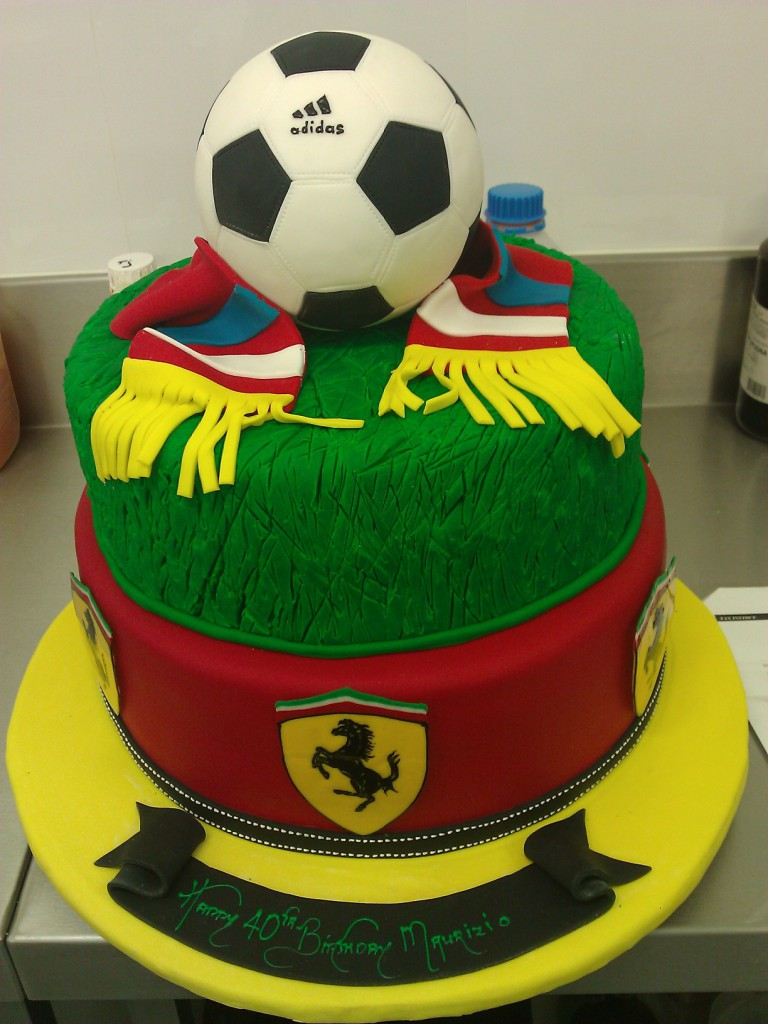 Awesome Soccer Birthday Cakes Two Tier Round Birthday Cake Soccer Ball Funny Birthday Cards Online Aboleapandamsfinfo