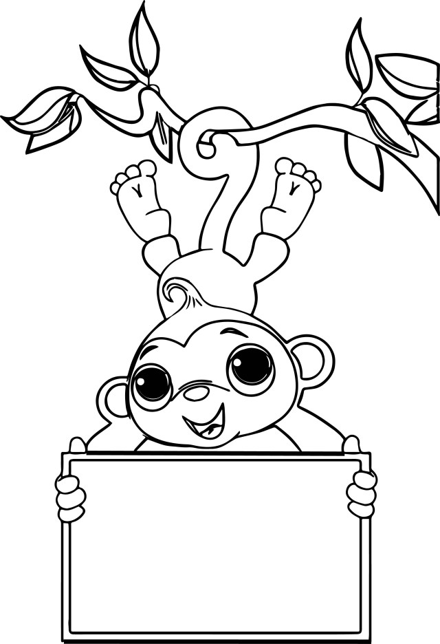 Sock Coloring Page Zoo Free Sock Monkey Coloring Page Wecoloringpage