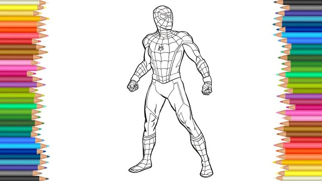 Spider Man Homecoming Coloring Pages Spider Man Homecoming Coloring Page L Coloring Markers Videos For