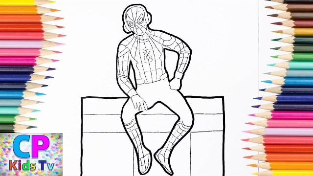 Spider Man Homecoming Coloring Pages Spiderman Homecoming Coloring Pages 2 Spiderman With Headphones