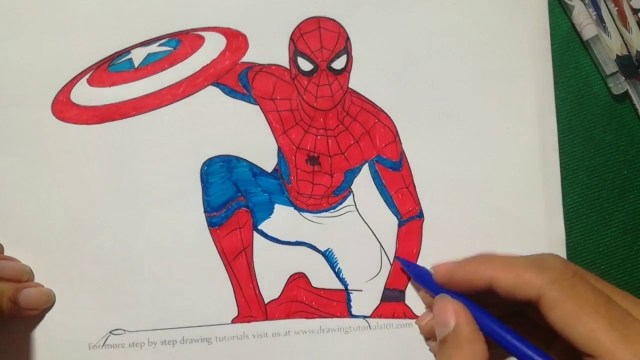 Spider Man Homecoming Coloring Pages Top Spider Man Homecoming Coloring Book For Free At Coloring Page