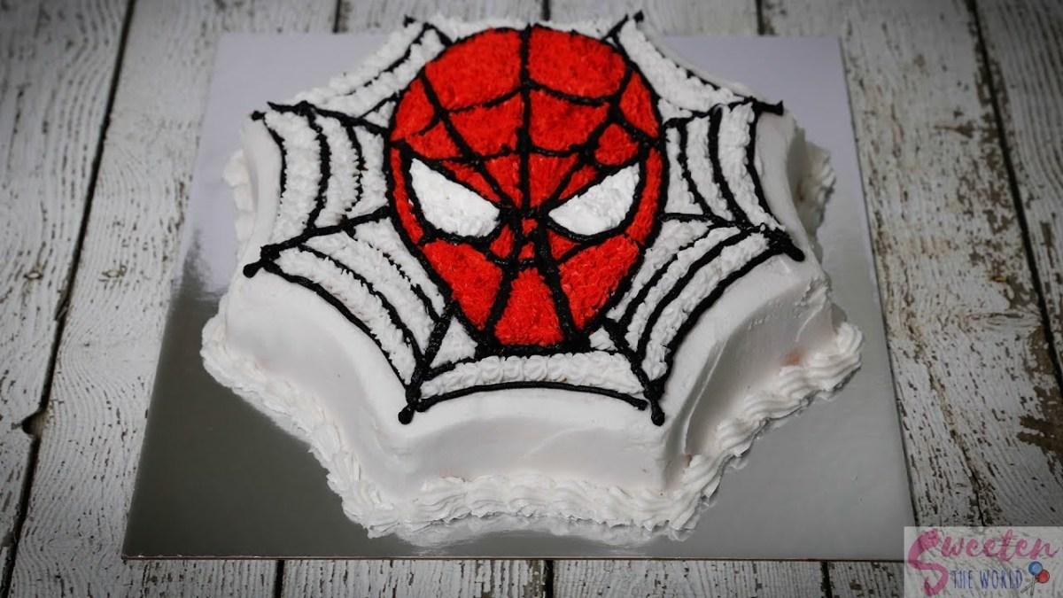 Spiderman Birthday Cakes Easiest Spiderman Birthday Cake Youll Ever Make Youtube