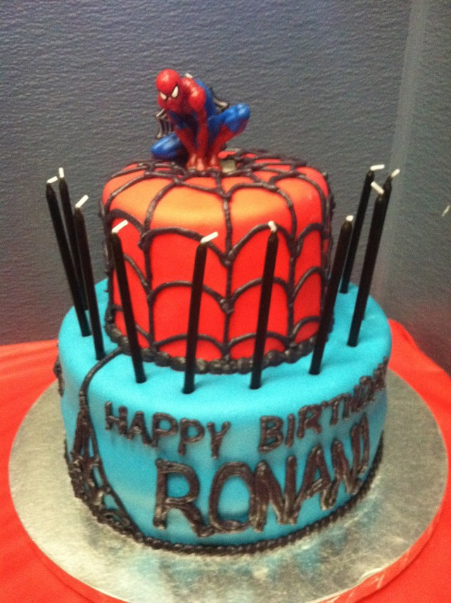 Spiderman Birthday Cakes Simple Spider Man Birthday Cake How To Pamcakes