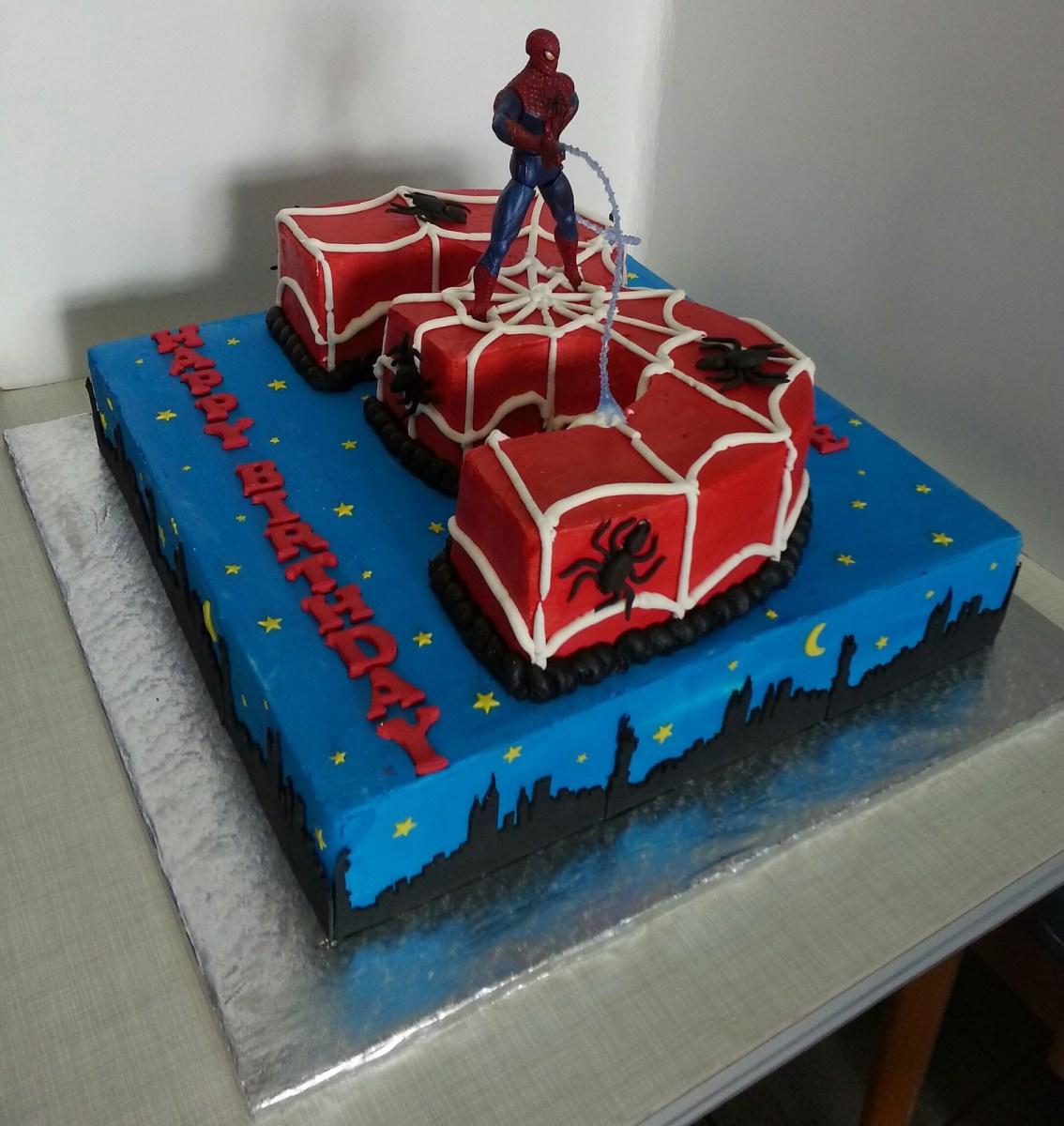 Spiderman Birthday Cakes Spiderman Birthday Cake Cakes Cupcakes Pinterest Birthday