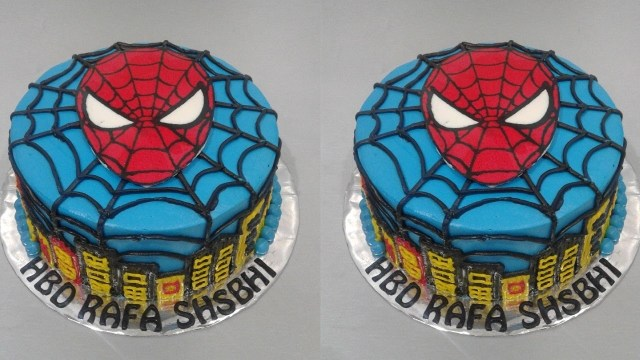 Spiderman Birthday Cakes Spiderman Cake Tutorial Easy How To Make Birthday Cake Youtube
