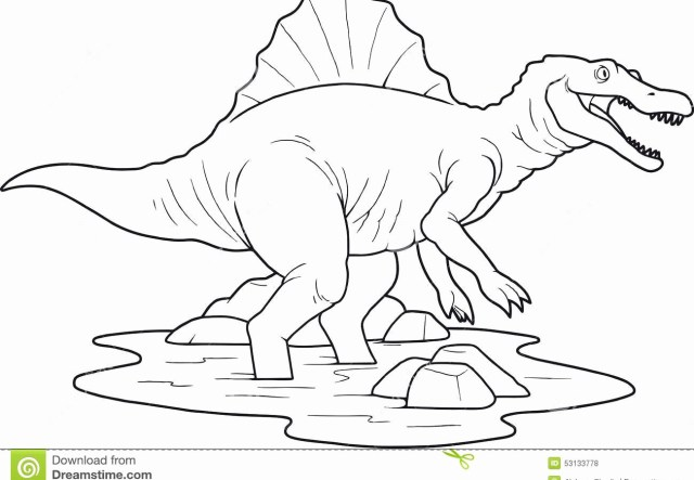Spinosaurus Coloring Page Dilophosaurus Coloring Page Wwwilleurimage