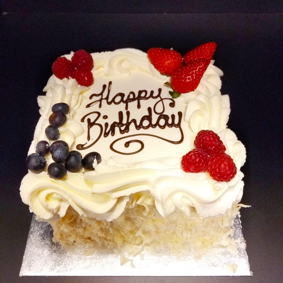 Tremendous Square Birthday Cakes 6 Square Birthday Cakeplain Sponge Fresh Funny Birthday Cards Online Overcheapnameinfo