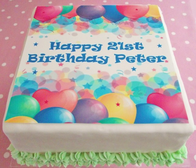 Square Birthday Cakes Cake Toppers Birthday Cake Toppers Adult Birthdays Birthday