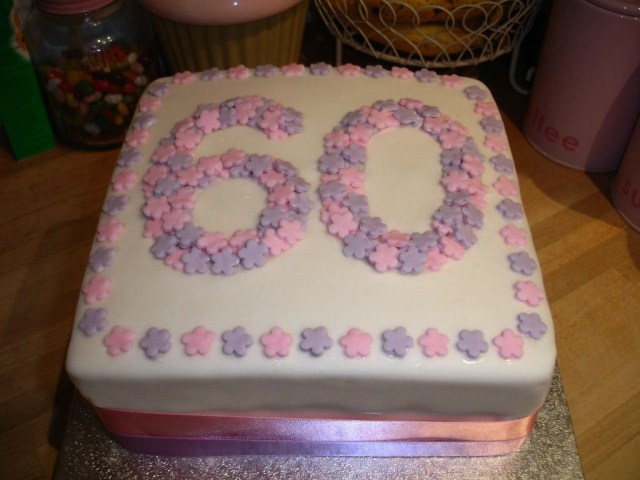 Square Birthday Cakes Square 60th Birthday Cake Ideas For Women Cakes And Baking