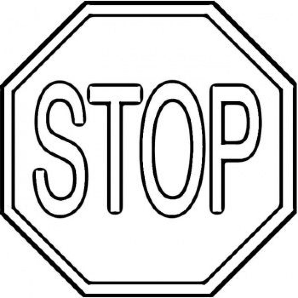 picture relating to Printable Stop Sign identified as 25+ Fantastic Envision of Prevent Indicator Coloring Webpage -