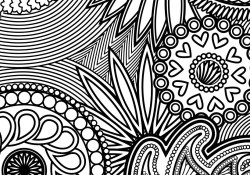 Stress Coloring Pages Paisley Hearts And Flowers Anti Stress Coloring Design Coloring