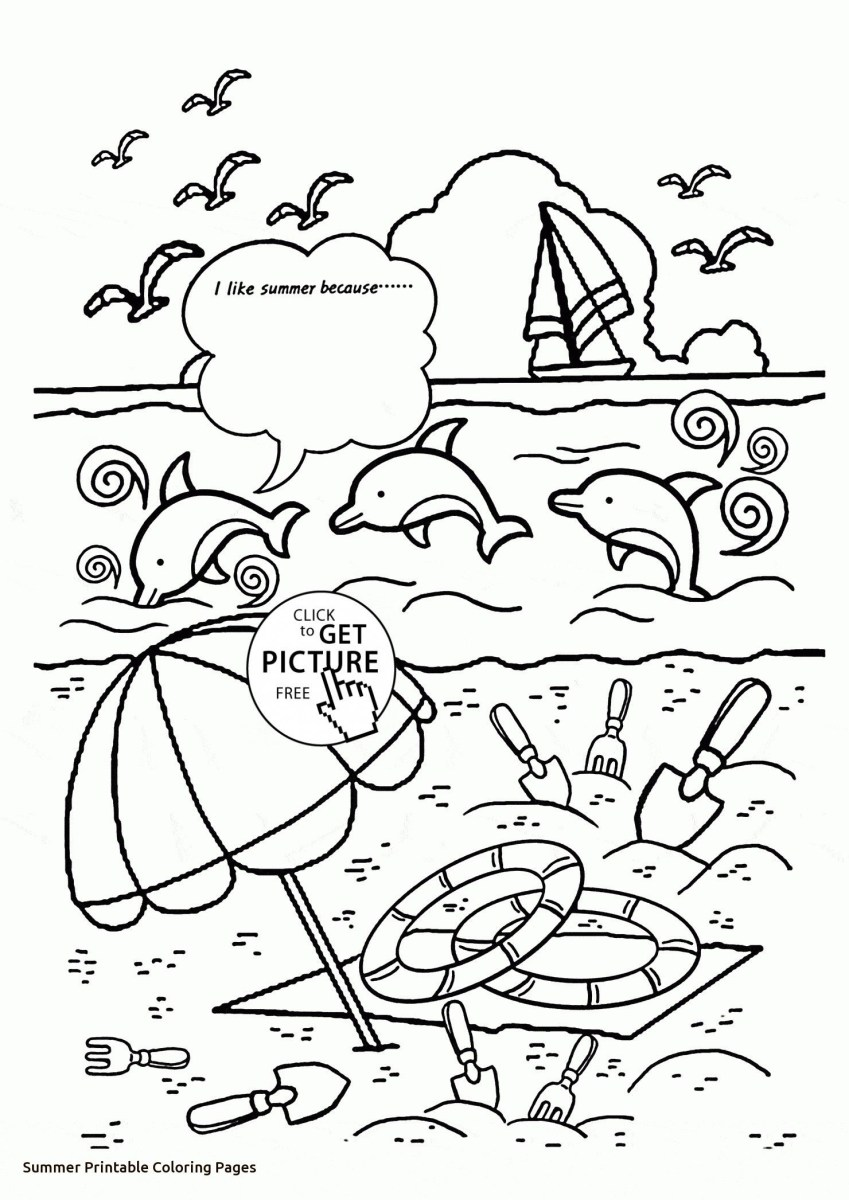 Summer Fun Coloring Pages Summer Fun Coloring Page Awesome