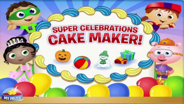 Super Why Birthday Cake Super Why Cake Maker Birthday Party Cartoon Animation Pbs Kids Game