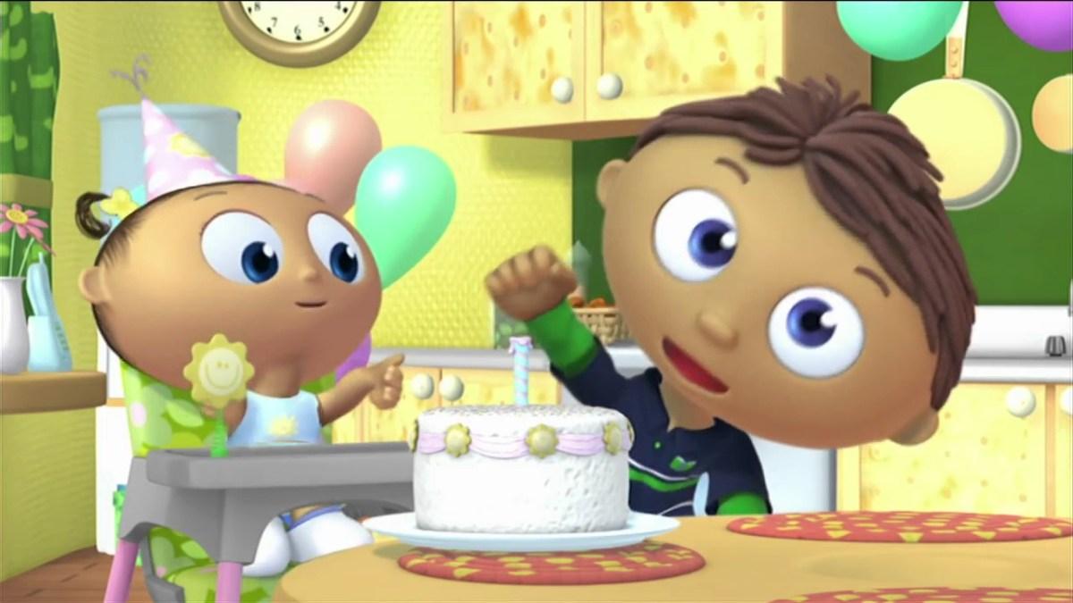 Sensational Super Why Birthday Cake Super Why Whyatt Makes A Birthday Cake Pbs Personalised Birthday Cards Paralily Jamesorg