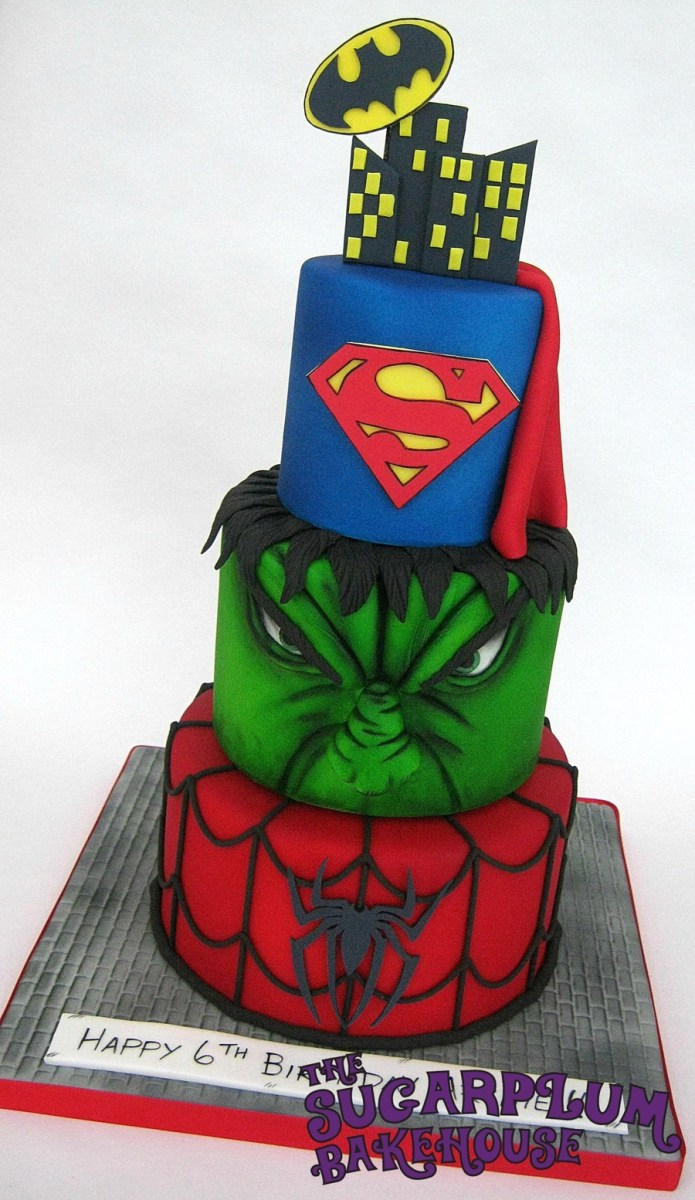 Sensational Superhero Birthday Cakes 3 Tier Mini 3 Tier Marvel Dc Superhero Funny Birthday Cards Online Kookostrdamsfinfo