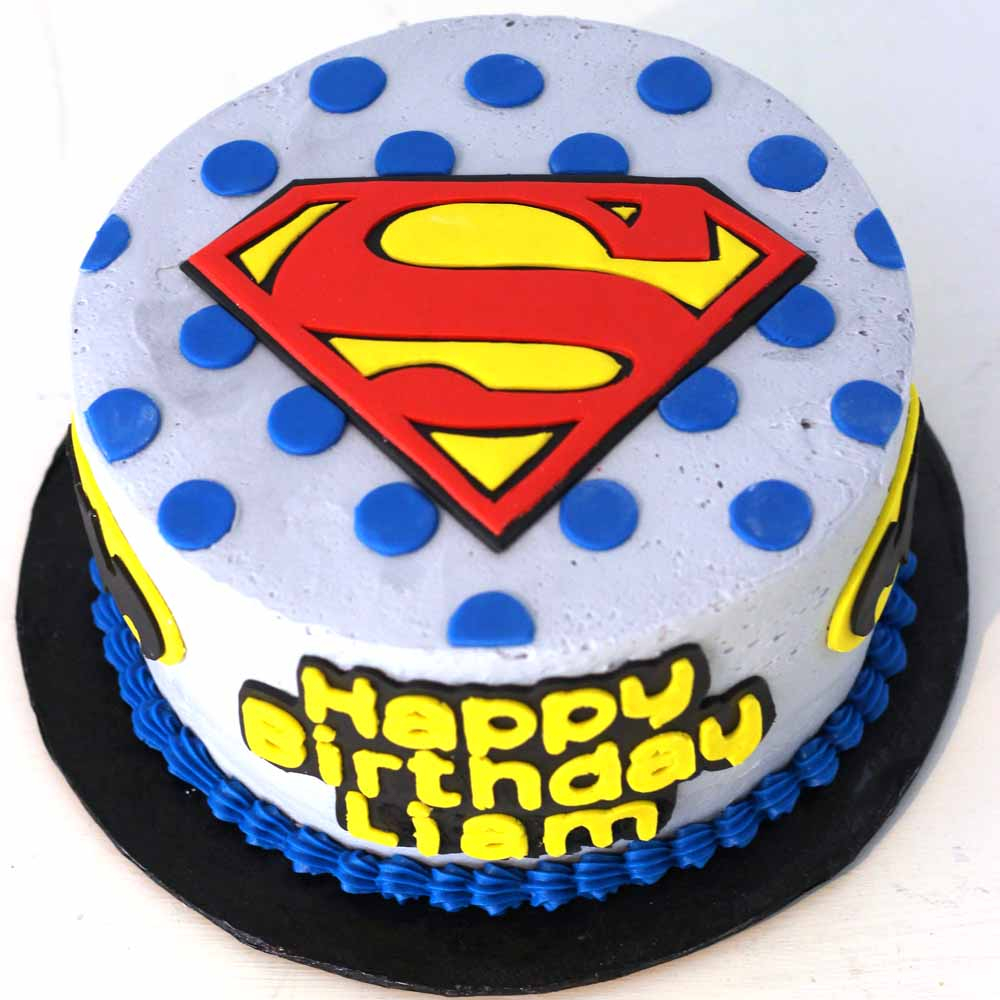 Incredible Superman Birthday Cake Childrens Birthday Specialty Custom Fondant Funny Birthday Cards Online Elaedamsfinfo