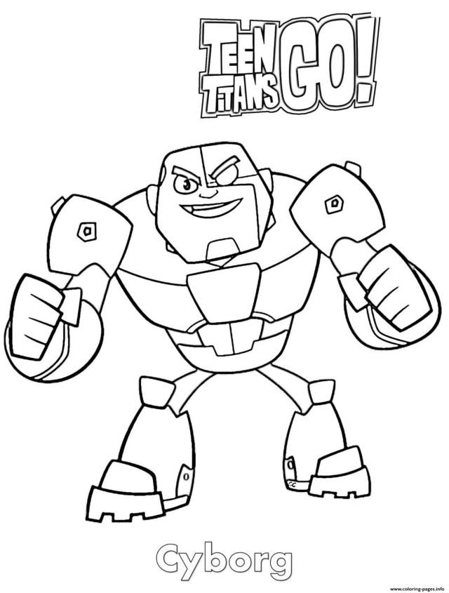 Teen Titans Coloring Pages Cyborg Teen Titans Go Cartoon Coloring Pages Printable
