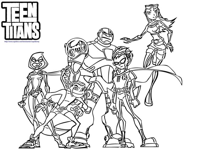 Teen Titans Coloring Pages Teen Titans Coloring Page Coloring Pages For Kids And For Adults