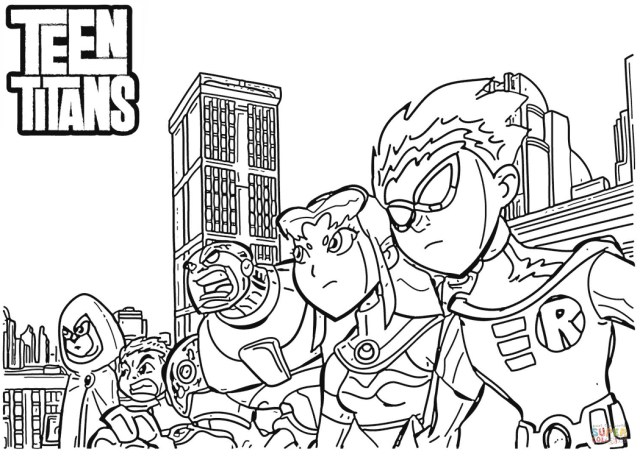 Teen Titans Coloring Pages Teen Titans Coloring Page Free Printable Coloring Pages