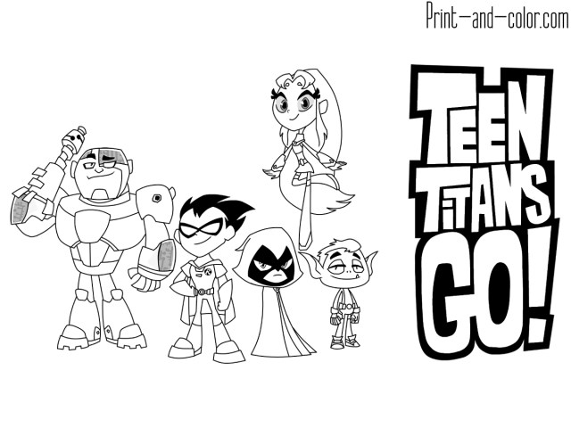 Teen Titans Coloring Pages Teen Titans Go Coloring Pages Print And Color