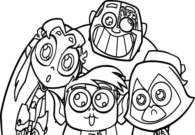Teen Titans Coloring Pages Teen Titans Go Robin Team Coloring Pages Wecoloringpage