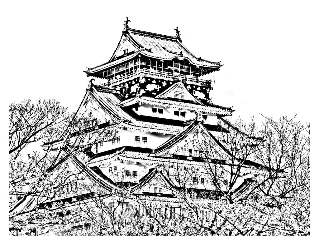 Temple Coloring Page Get The Colouring Page Japanese Temple Free Colouring Pages For