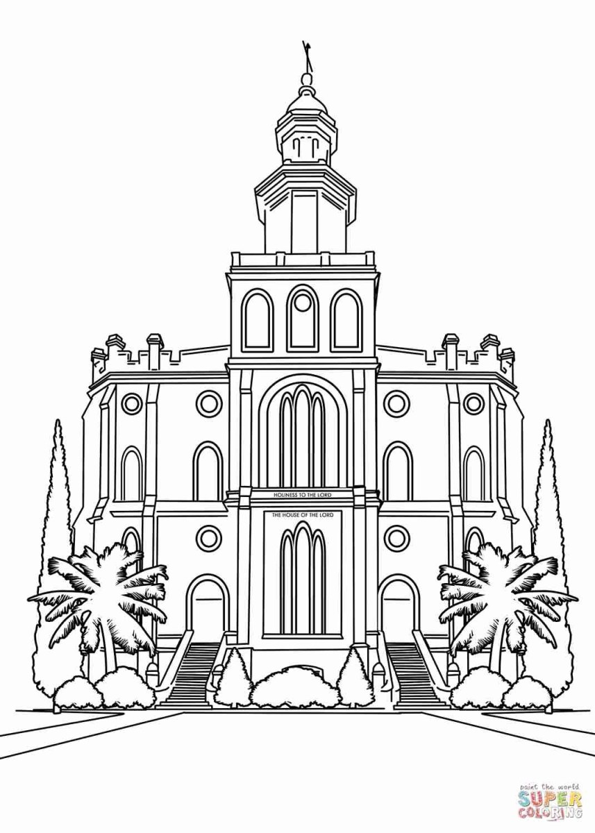 Temple Coloring Page Kirtland Temple Coloring Page Fresh Kirkland Architectural Drawing
