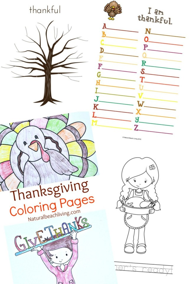 Thanksgiving Coloring Pages For Kids Thanksgiving Printables For Kids Natural Beach Living