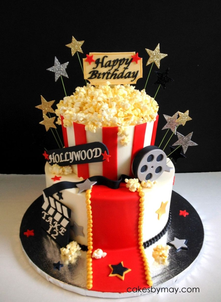 Themed Birthday Cakes Movie Hollywood Theme Birthday Cake On