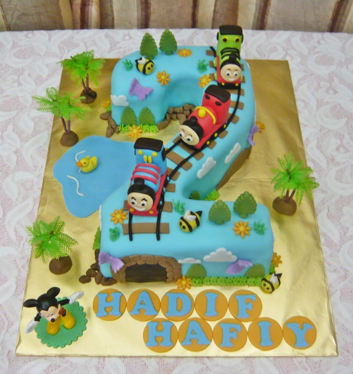 Cool Thomas And Friends Birthday Cake 10 Thomas Number 2 Cupcake Cakes Birthday Cards Printable Trancafe Filternl