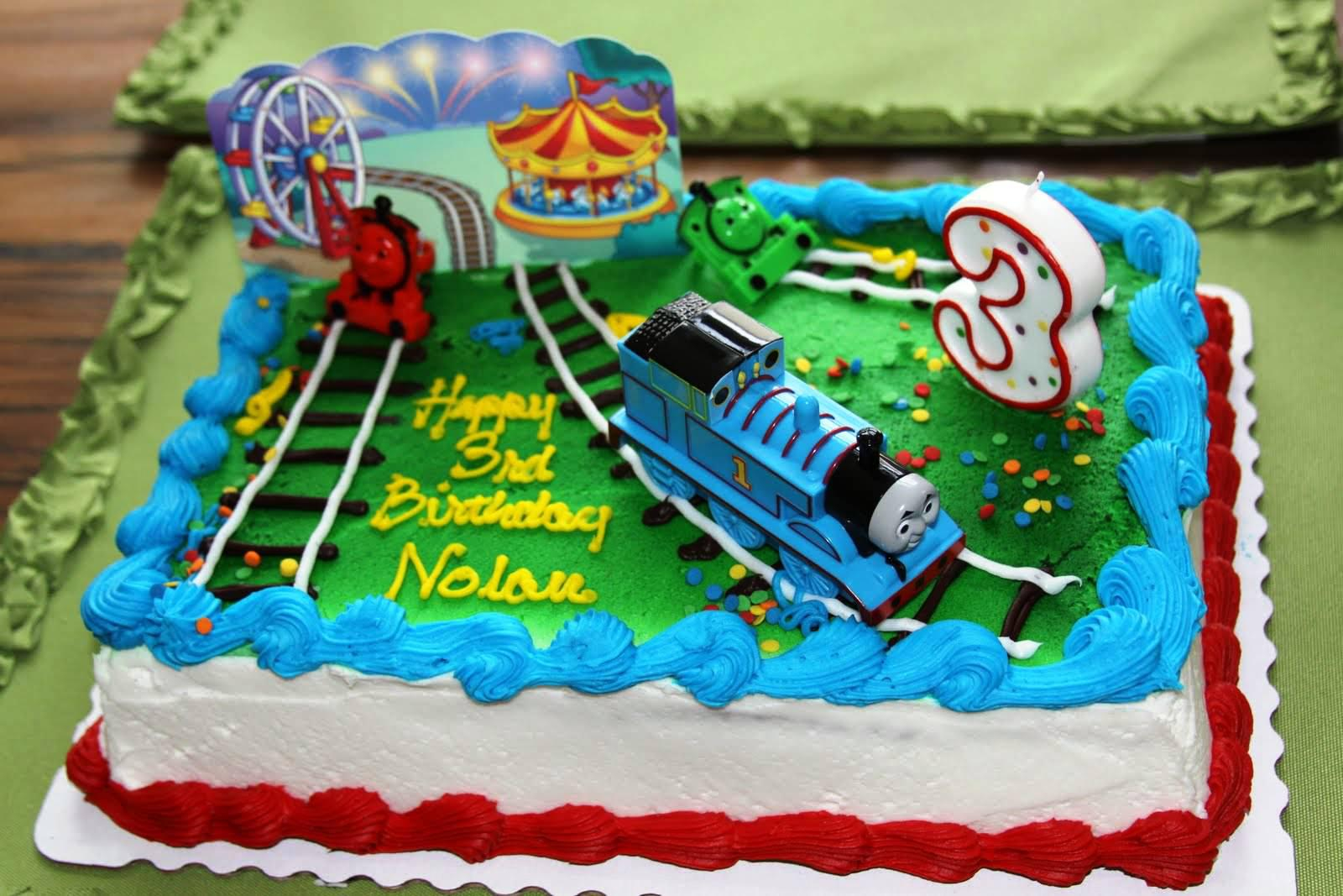 Fabulous Thomas The Train Birthday Cake Thomas The Train Birthday Cake Funny Birthday Cards Online Fluifree Goldxyz