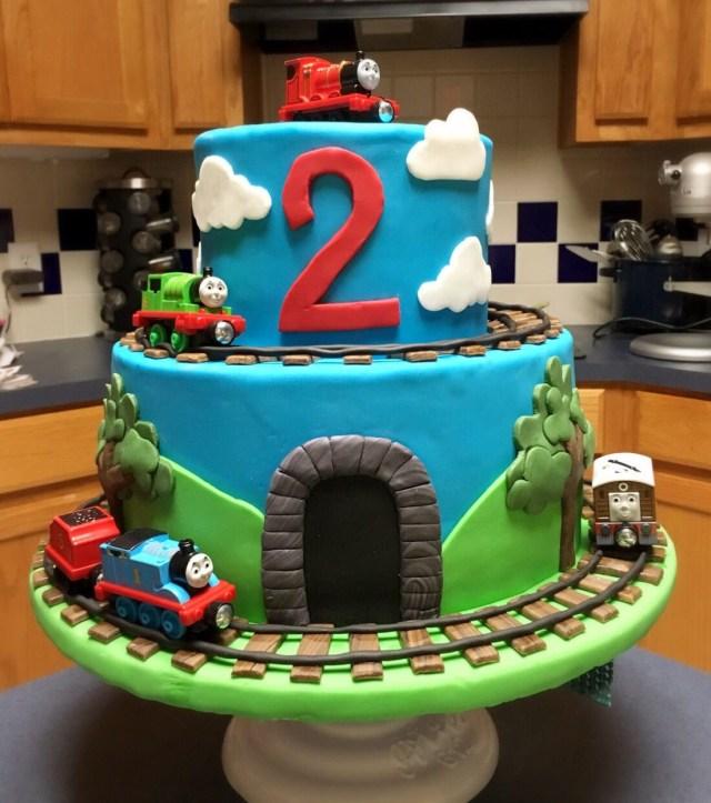 Thomas The Train Birthday Cakes Thomas The Train Cake Plus Thomas The Train Cupcake Holder Plus
