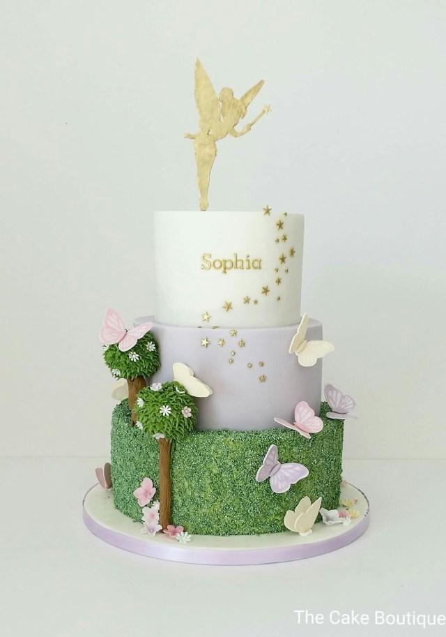 Tinkerbell Birthday Cakes Fairies Theme Butterfly Cake Birthday Cake For Girls Fairy