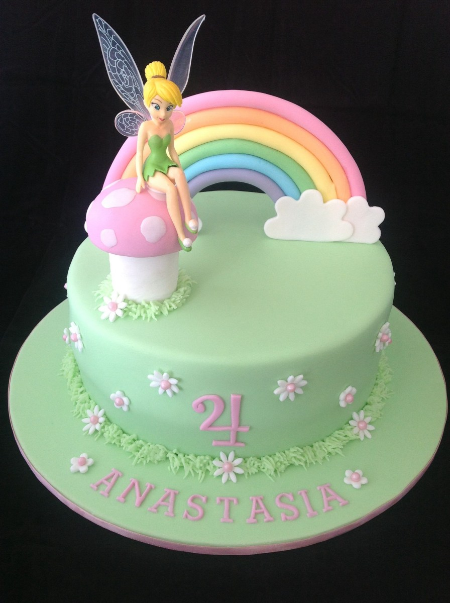 Brilliant Tinkerbell Birthday Cakes Tinkerbell Cake Love The Simplicity Of Birthday Cards Printable Benkemecafe Filternl