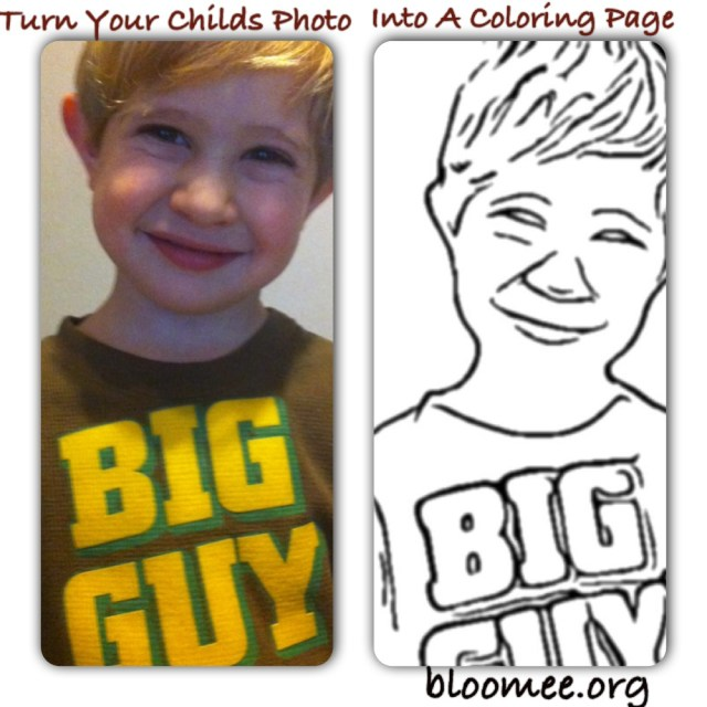 Turn Pictures Into Coloring Pages App Turn Your Childs Photo Into A Coloring Page Bloomee