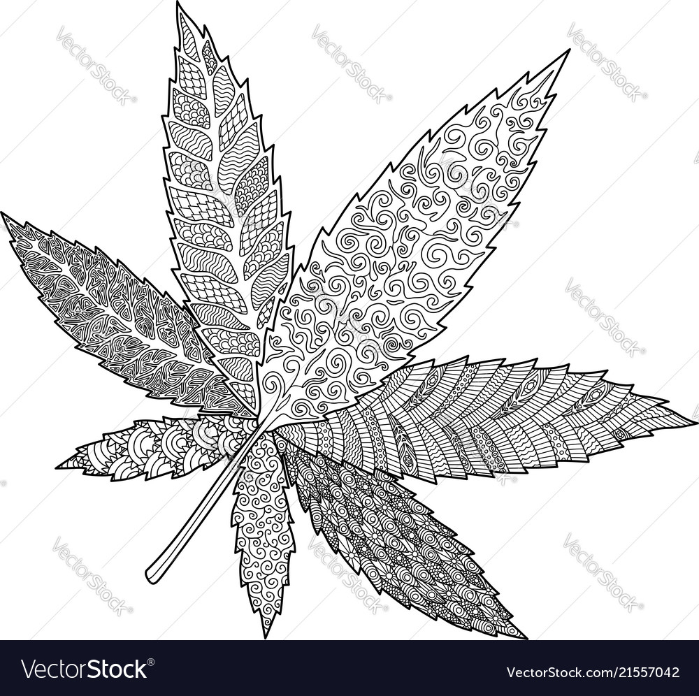 Weed Coloring Pages Fascinating Marijuana Leaf Coloring Pages Book Page With Decorative