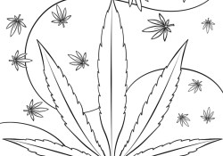 Trippy Weed coloring page | Free Printable Coloring Pages | 175x250