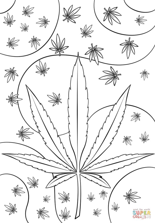 Weed Coloring Pages Psychedelic Weed Coloring Page Free Printable Coloring Pages