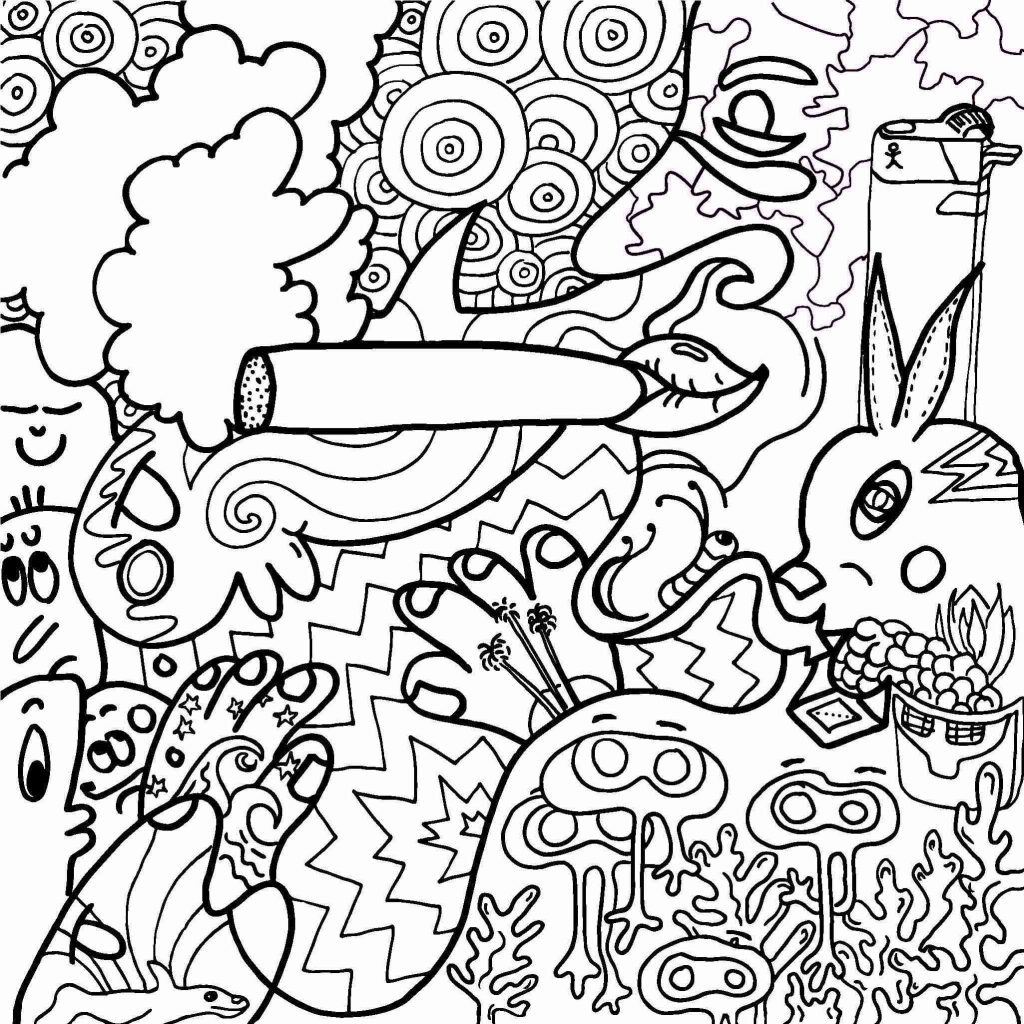 Weed Coloring Pages Trippy Color Pages Pictures Collection Of Psychedelic Weed Coloring