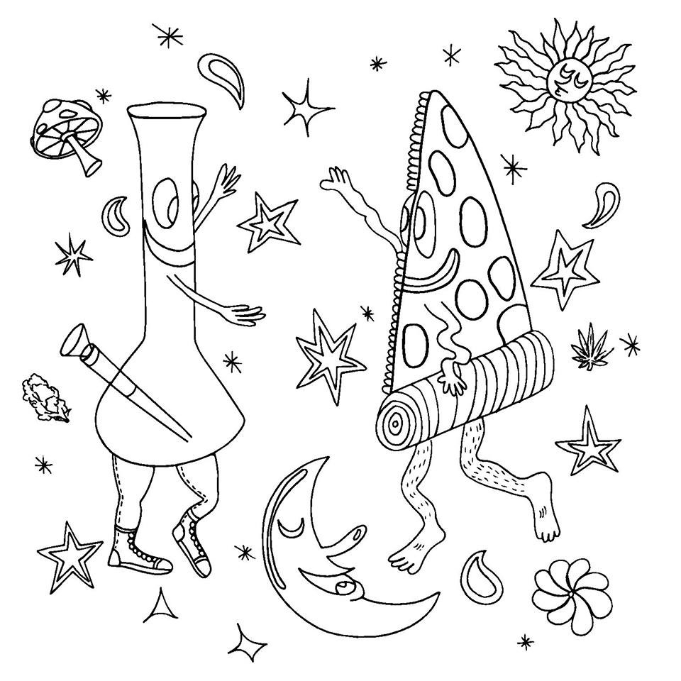 - Weed Coloring Pages Weed Coloring Books 9viq Trippy Weed Coloring